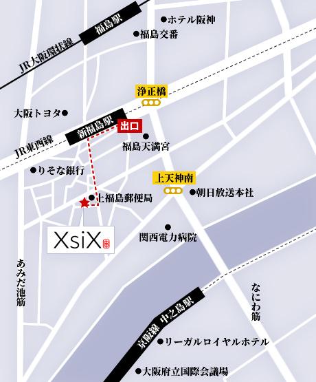 新福島駅からのアクセスマップ