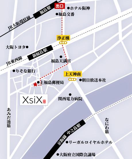 福島駅からのアクセスマップ