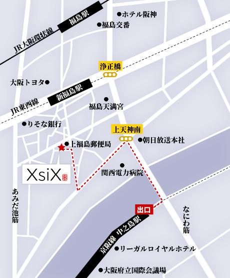 中之島駅からのアクセスマップ